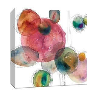 """PTM Images 9-147783  PTM Canvas Collection 12"""" x 12"""" - """"Color Drops"""" Giclee Patterns and Designs Art Print on Canvas"""