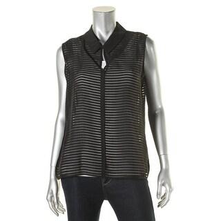 Tommy Hilfiger Womens Blouse Sleeveless Collar - l