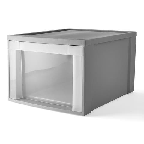 "Starplast Large Stackable Storage Drawer, 19.75"" x 15.5"", Gray - N/A"