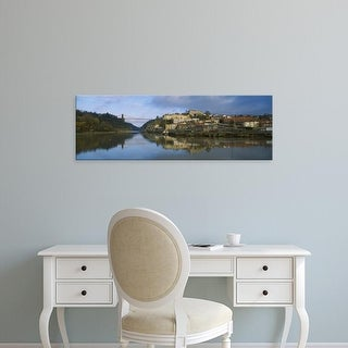 Easy Art Prints Panoramic Image 'Bridge, Clifton Suspension Bridge, River Avon, Bristol, England' Canvas Art