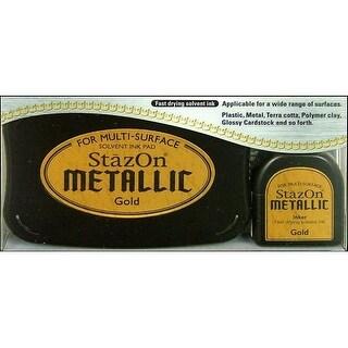 StazOn Solvent Ink Pad Large Metallic Gold