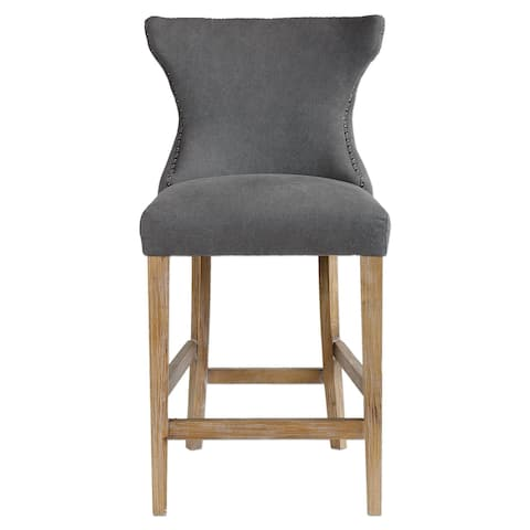 Uttermost 23244 Gamlin Chair Designed by Jim Parsons - Stonewashed Gray