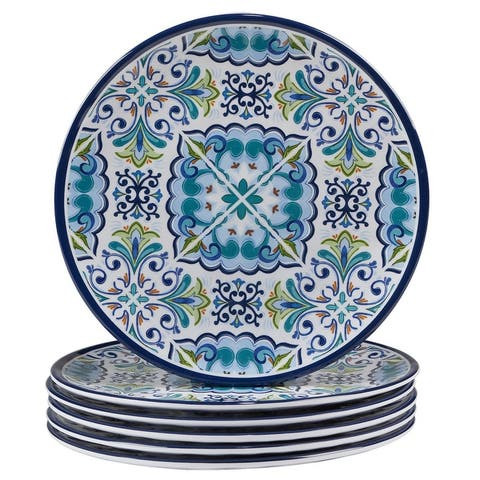 Certified International Mosaic Melamine Salad/Dessert Plates (Set of 6)