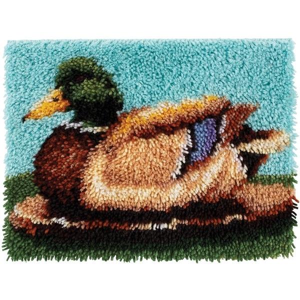 Spinrite Wonderart Latch Hook Kit, 15 by 20-Inch, Duck