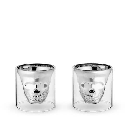 "Skull Shot Glasses by Foster & Rye - 2.75"" x 2.75"""