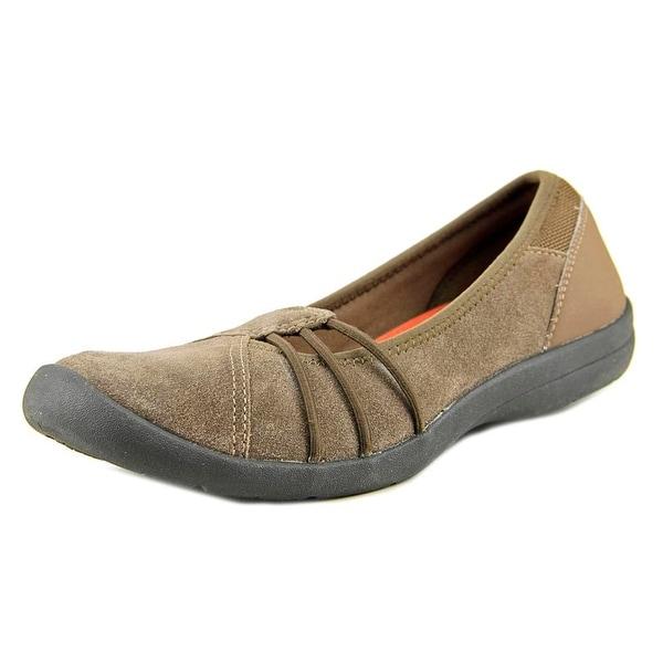 Easy Spirit Kaali Women N/S Round Toe Suede Brown Walking Shoe