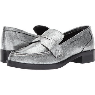 Marc Fisher Womens Vero Leather Closed Toe Loafers