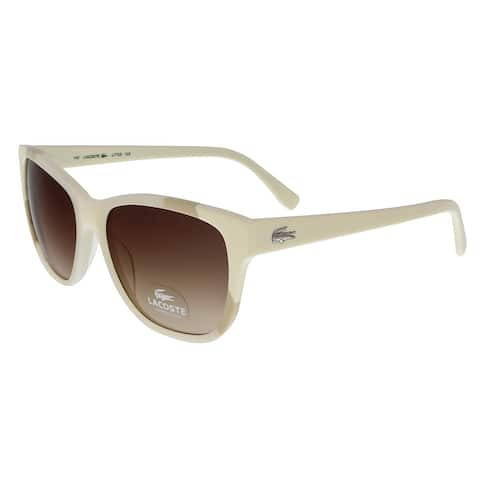a29e0b3c5 Lacoste L775 S 105 White Bone Rectangle sunglasses Sunglasses - 55-16-