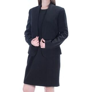 ANNE KLEIN $240 Womens New 1370 Black Sleeveless Sheath Dress 10 B+B