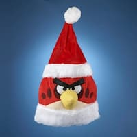 Club Pack of 12 Red and White Angry Bird Christmas Santa Hats 20""