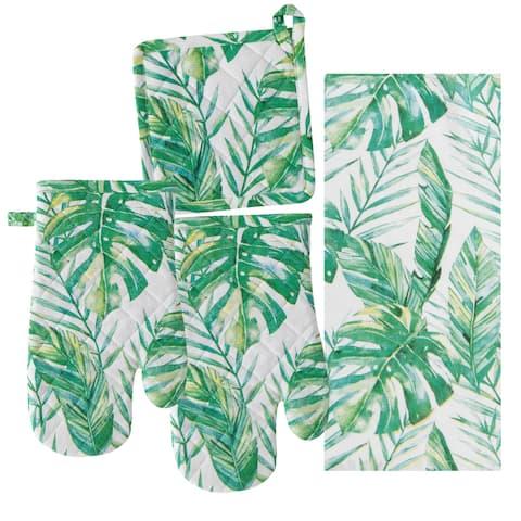 """Kitchen 4PC Set Tropical Breeze - 12"""" x 7"""""""