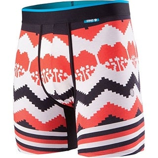 Stance Mens Til Death Pixel Boxers Underwear - Red