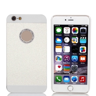 Plastic Rhinestone Bling Hard Phone Cover White for iPhone 6 Plus 5.5