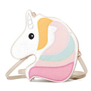 QZUnique Women 3D Unicorn Glitter Shoulder Handbag Messenger Crossbody Purse Bag