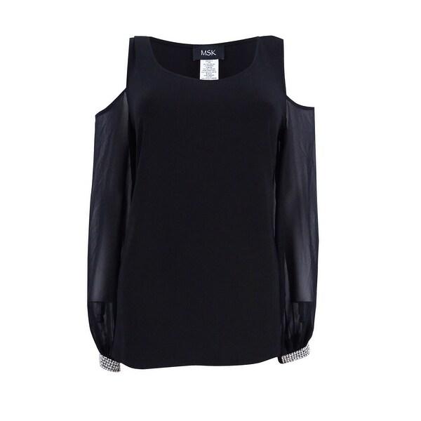 75d780584d0b9 Shop MSK Women s Embellished Cold-Shoulder Top M
