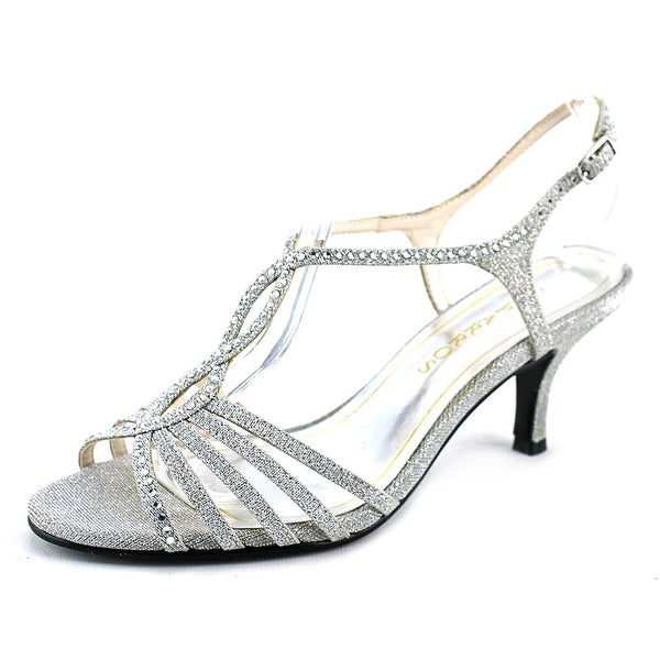 Caparros Sabrina Women Open Toe Synthetic Silver Sandals