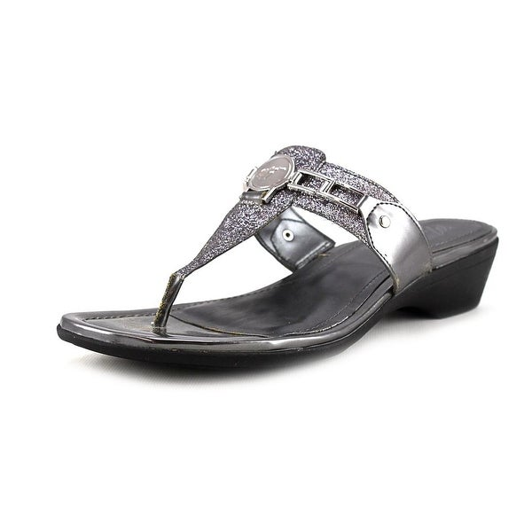 Marc Fisher Amina2 Women  Open Toe Synthetic Silver Thong Sandal