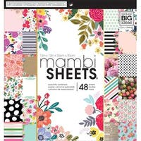 "Botanicals - Mambi Single-Sided Paper Pad 12""X12"" 48/Pkg"