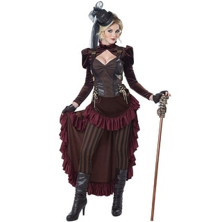 California Costumes Victorian Steampunk Adult Costume - Red