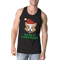 Merry Corgmas Corgi Tank Top Mens Black Holiday Gift For Dog Owners