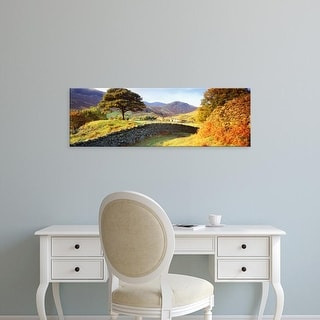 Easy Art Prints Panoramic Images's 'Lake District, United Kingdom' Premium Canvas Art