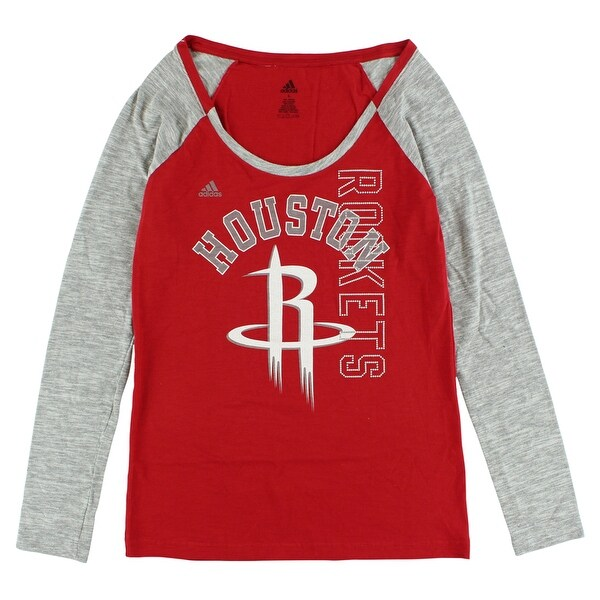 check out d30c7 4c077 Adidas Womens Houston Rockets Team Liquid Shirt Red - red/white/gray