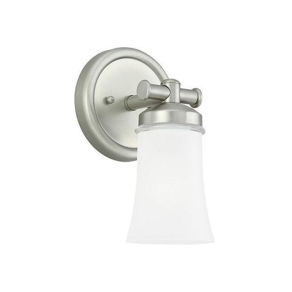 Sea Gull Lighting 44482BLE-965 1-Light Newport Bath Sconce Antiq Brushed Nickel - Nickel Finish