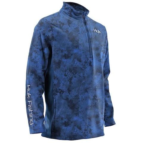 Huk Men's Tidewater SubPhantis Current Medium 1/4 Zip Sweater