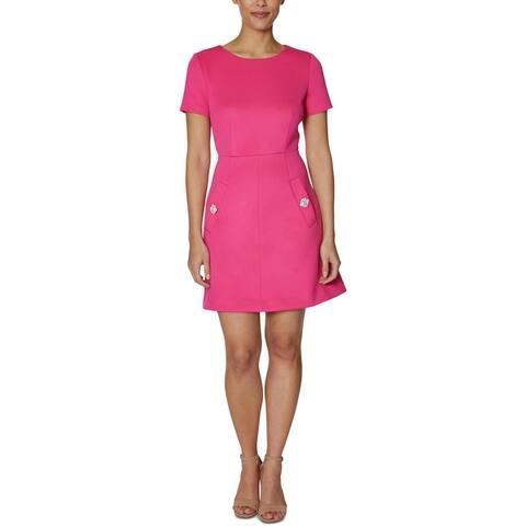 Betsey Johnson Womens Wear to Work Dress Embellished A-Line - Watermelon Bliss