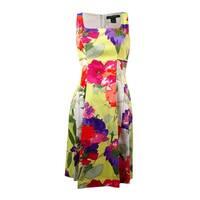 Lauren Ralph Lauren Women's Floral Cotton Sundress - white/daffodil/multi