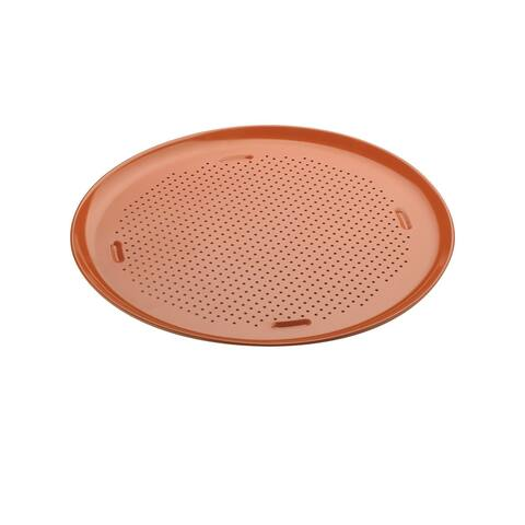 """Culinary Edge Ceramic Copper Pro Nonstick Bakeware 16"""" Pizza Pan"""