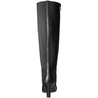Bandolino Womens Winola Leather Closed Toe Knee High Chelsea Boots