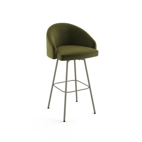 Amisco Nelly Swivel Counter and Bar Stool - N/A