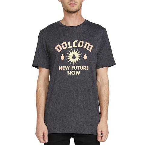 Volcom Mens T-Shirt Gray Size Large L Crewneck Modern Fit Graphic Tee