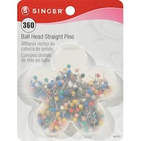 Ball Head Quilting Pins In Flower Case-Size 17 360/Pkg