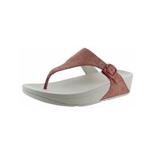 59db4f407b6e Women s FitFlop Florrie Toe Post Sandal Pale Gold Soft Metallic Imi-Leather  · Quick View