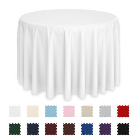 Round Polyester Tablecloth for Wedding Banquet