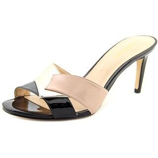 Nine West Wandryna Women Open Toe Patent Leather Slides Sandal