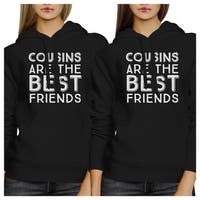 Cousins Are The Best Friends Unisex Black Family Matching Hoodies