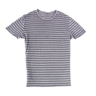 Slate & Stone Dark Gray Mens Size XL V Neck Striped Tee T-Shirt