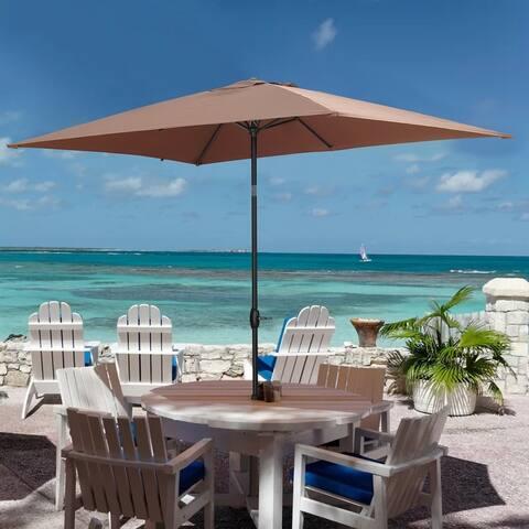 Ainfox 10ft x 6ft Rectangle Patio Umbrella with Tilt and Crank, Waterproof and Sun Shade Outdoor Umbrella