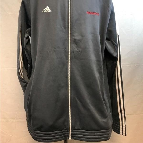 san francisco 15aaf a2541 Houston Rockets Mens Size Xl Xlarge +2 Gray Adidas Track Jacket
