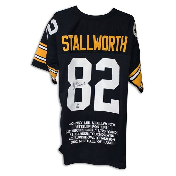 7b872f0b01d Shop John Stallworth Pittsburgh Steelers Autographed Black Throwback Jersey  - Free Shipping Today - - 13075058
