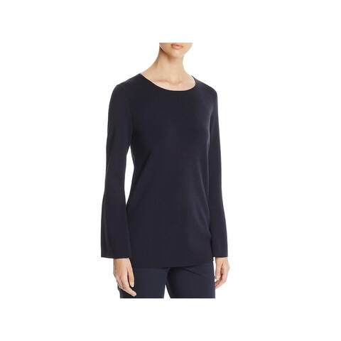 Lafayette 148 New York Womens Pullover Top Knit Flare Sleeves