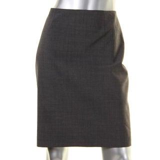Elie Tahari Womens Pencil Skirt Knee Length Heathered