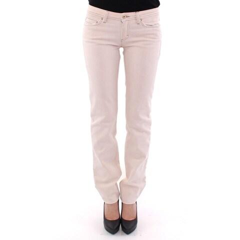 Dolce & Gabbana Dolce & Gabbana Beige CUTE Cotton Regular Fit Jeans Pants