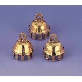 "Brass Bells 1"" High One Dozen Cute Claw Bells Wedding Bells Motorcycle Bells Polished Brass"