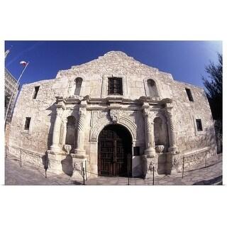 """The Alamo, San Antonio, TX"" Poster Print"
