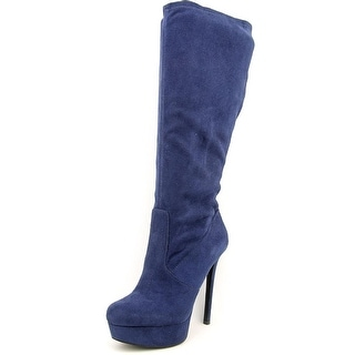 Jessica Simpson Serelli Women Round Toe Synthetic Blue Mid Calf Boot