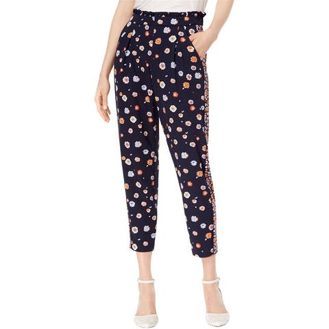 Maison Jules Womens Pull-On Casual Cropped Pants